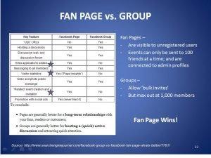 facebook fanpage o gruppo